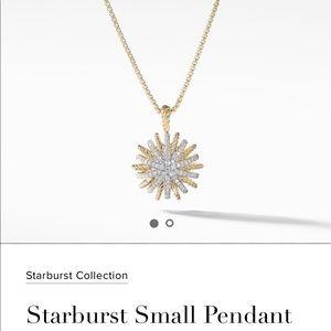 David Yurman Gold Starburst Necklace